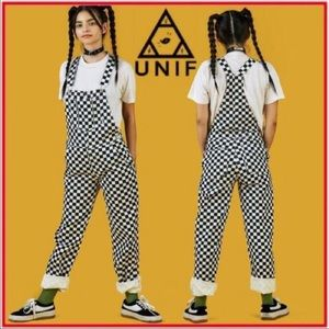 UNIF APEX CHECKERED OVERALLS NWT